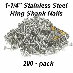 Stainless Nails 200 Pack
